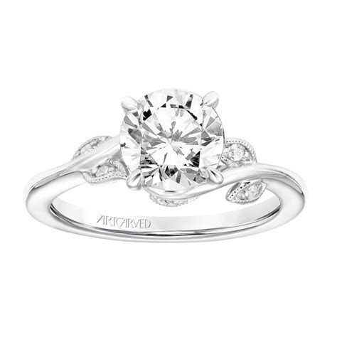 Leaf Design Diamond Engagement Ring ? Brooks Diamonds