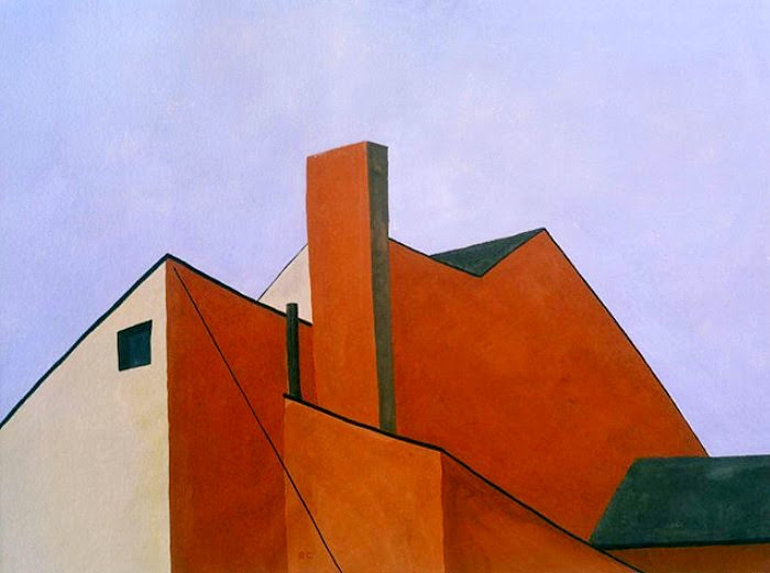 Ralston Crawford - Factory Roofs - 1934 - The Phillips Collection, Washington D.C.
