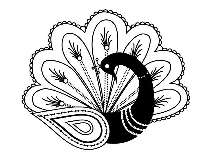 Black And White Peacock Designs Clipartsco