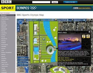 BBC Sport's Olympic Map 2008