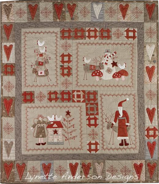 Scandinavian quilt watermark