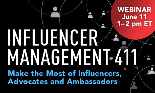 June 11: Influencer Management 411 Webinar