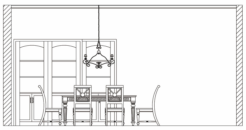 Dining Table: Dining Table Cad Elevation