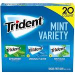 Trident Mint Variety Pack Sugar Free Gum (20 pk.)