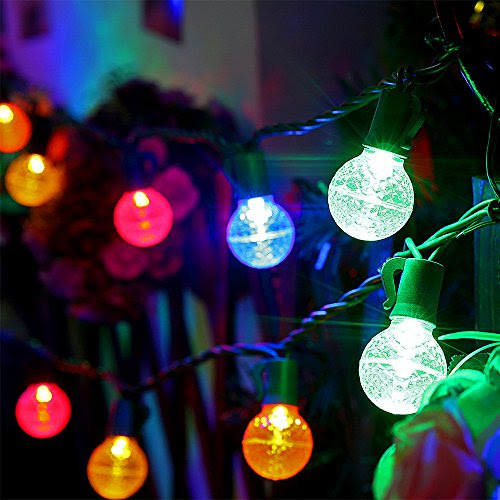 Review for Multicolor Led Globe Ball Light Strings with G30 Bulbs,13Ft 25 Outdoor Decorativ... - Anita Truckenmiller - Blog Booster