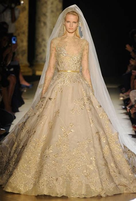 Gold Wedding Dresses   A Trusted Wedding Source by Dyal.net