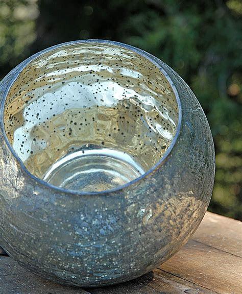 Mercury Glass Bubble Bowl Vase 7in