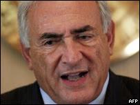 El director gerente de FMI, Dominique Strauss-Kahn