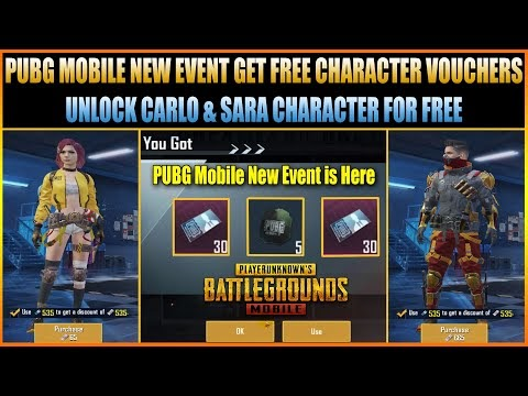 PUBG MOBILE NEW EVENT GET FREE CHARACTER VOUCHERS || UNLOCK CARLO & SARA...