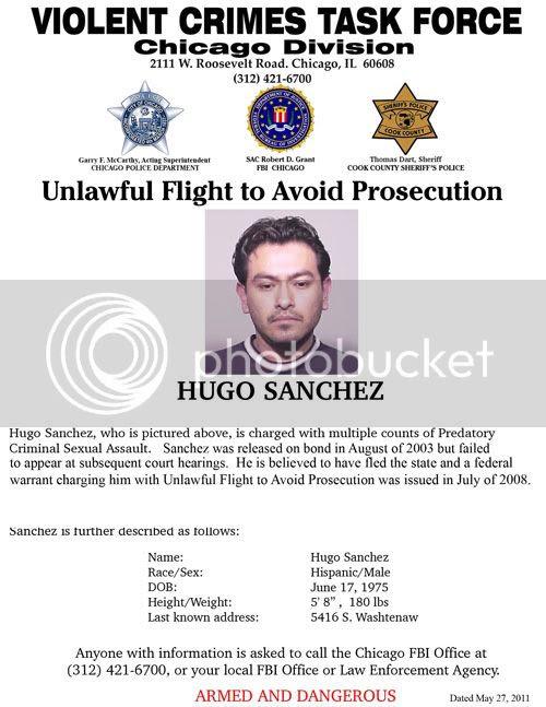 Hugo Sanchez, Suspected Child Predator, Wanted by FBI