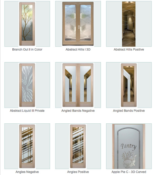 Glass Front Doors - Beautiful Semi Private Glass Etching