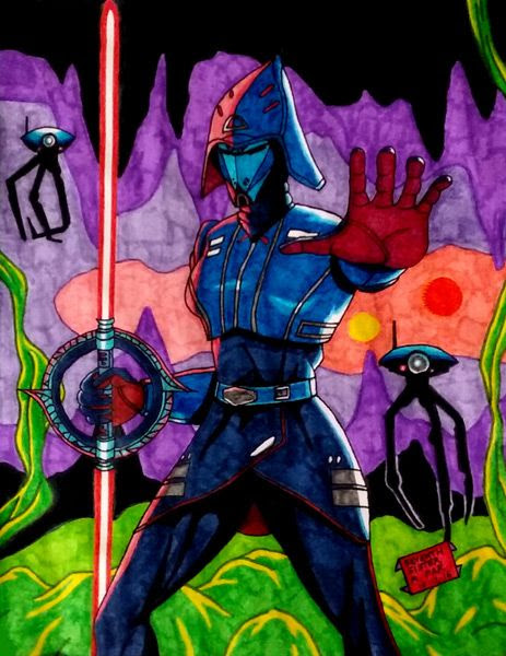 A true-color image of my Seventh Sister drawing.