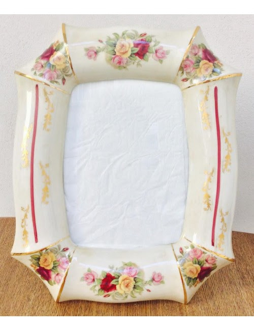 Florence Express Frame Ivory Limoge With Flowers And Gold