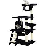 """Go Pet Club Cat Tree Condo Furniture, Black, 62"""""""