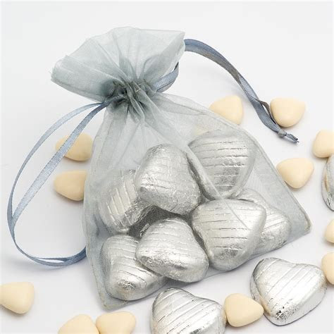 Silver Organza Bags at Favour This