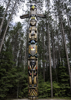 Touching Spirit Bear Totem Pole