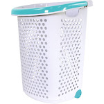 Home Logic Rolling Laundary Hamper, White