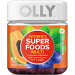 Olly Women's Super Foods Multi Gummies, Lively Elderberry, 60 CT, NA