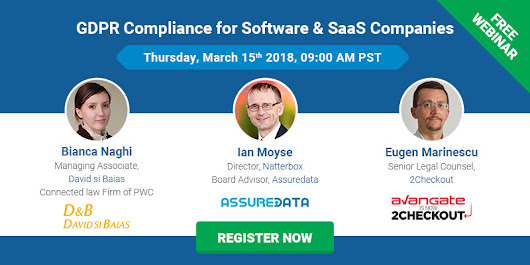 Webinar: GDPR Compliance for Software & SaaS Companies