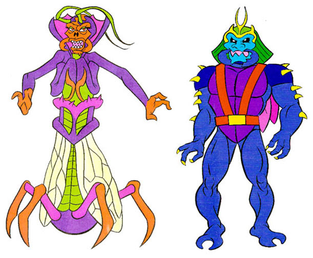 (TMNT Spinoff) ..Mutanimals The Animated Series! - Maligna & Malignoid..[[Courtesy of Ryan Brown]] ((1992))
