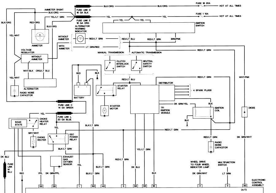 1985 F150 Alternator Wiring Diagram / 85 Ford Mustang
