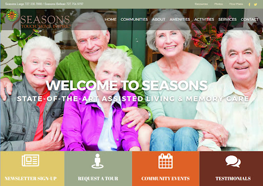 Ditibit launches new website design Seasons Memory Care