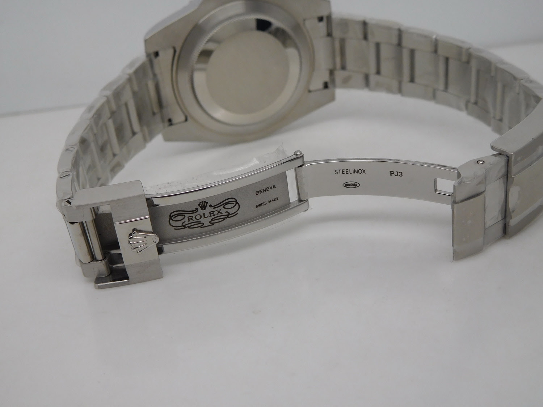 Replica Rolex GMT Master II 116719BLRO Clasp Engraving