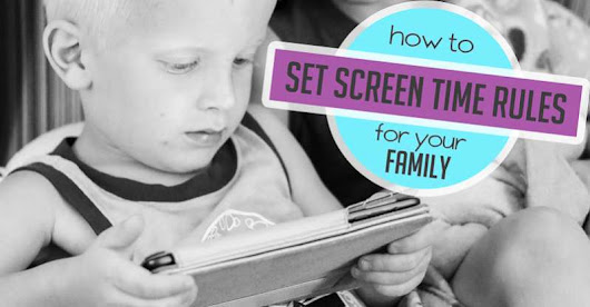 Managing Screen Time Rules for Kids + Free Guide | hands on : as we grow