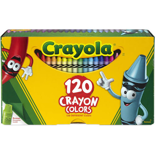 Crayola - Crayon - assorted colors - pack of 120