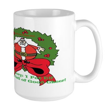 Fat Elf Christmas Large Mug