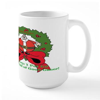 Fat Elf Christmas Large Mug