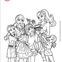 Coloriages Barbie Et Ses Soeurs En Pleine Séance De Relooking Fr