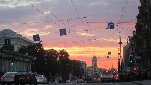 Sunset in Saint Petersburg by Anna Amnell