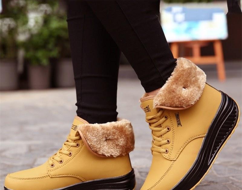 e8f9a13dc Comprar Botas De Nieve Mujer Moda Con Cordones Zapatillas Plataforma  Tobillo Invierno Cuñas Cálidas Felpa Chaussure Online Baratos ~ nheenia