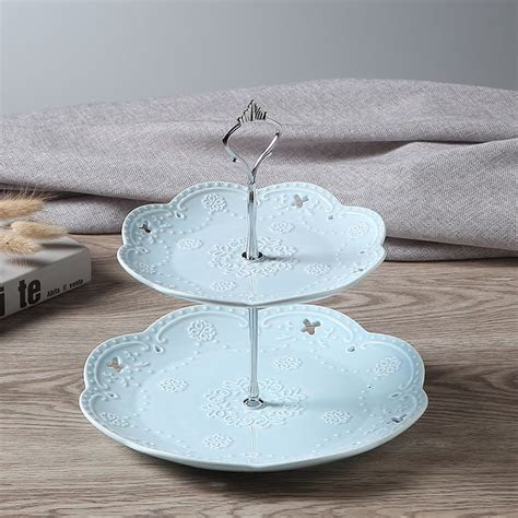 16 best Square Ceramic 2 Tier Cake Stand Dishes images on