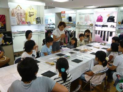 夏休み工作,夏休み教室,松菱,キッズイベント,チョークアート,オイルパステル