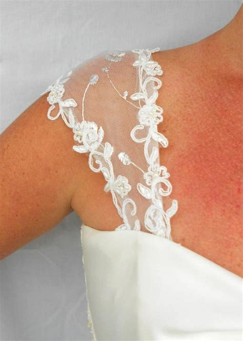Detachable Lace Wedding Gown Cap Sleeves 9 by
