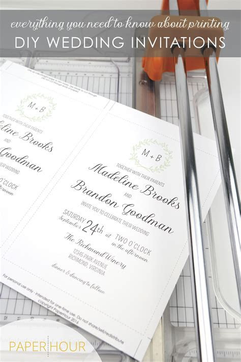 How to print DIY Wedding invitations. Everything you need