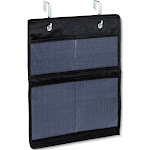 Over The Door Cabinet Hook Mesh Pocket Organizer Black - 88 Main