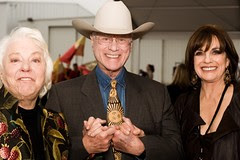 Maj and Larry Hagman, Linda Gray
