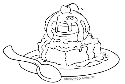 Dulemba coloring page tuesday birthday brownie for Brownie coloring pages printable