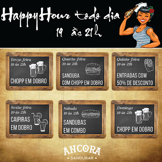 Happy Hour todo dia!