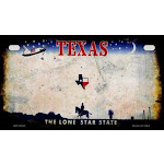 Smart Blonde MP-8160 7 x 4 in. Texas Rusty Blank Background Novelty Metal Motorcycle Plate