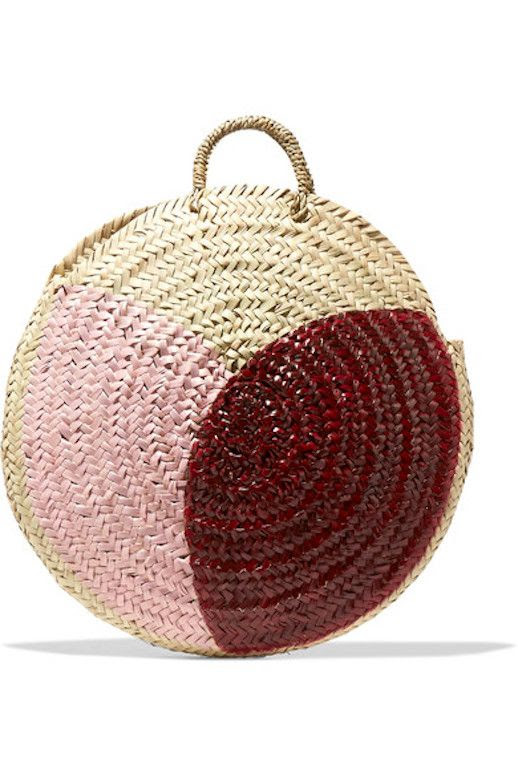 Le Fashion Blog Must Have Vanessa Seward Hand Painted Straw Tote Via Net A Porter