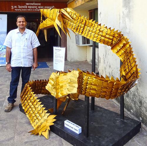 Origami Eastern Dragon 25 feet long