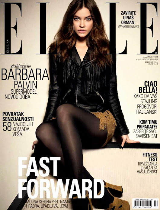 USA Fashion | Music News: BARBARA PALVIN on the Cover of Elle Magaine, Serbia Frebruary 2016 Issue
