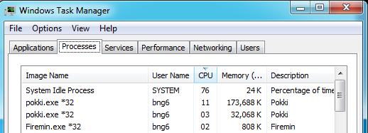 Pokki's memory usage on Outdated Penang Uncle blogspot dot com