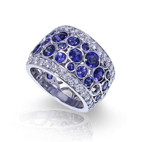 Bubble Sapphire Band   Jewelry Designs