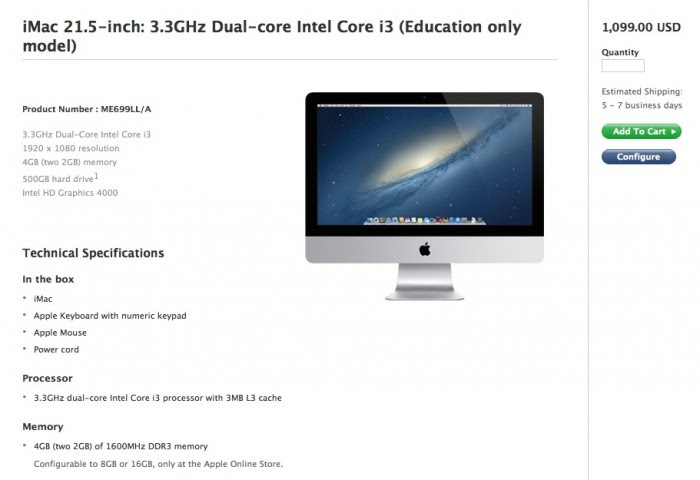 Educational iMac 21 5 inch