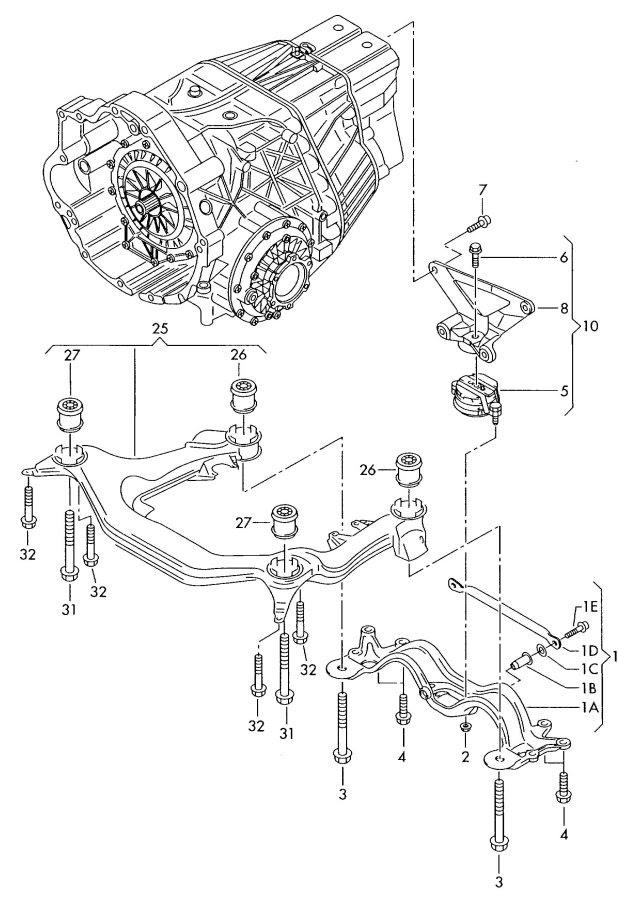 Automatic Transmission Shiftlessfitsaudi Ellis Audi Parts